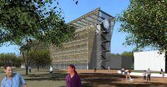 Idea sostenible: Proyecto del Instituto de Investigaciones Marinas y Costeras en Santa Marta. Por su diseño angosto y alto, el edificio ahorrará 38% de energía por la iluminación natural, y recibirá ventilación natural por tener sus fachadas orientadas en el sentido de los vientos.