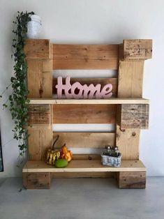 pallet wall shelf idea