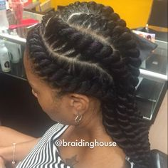 natural braided and twisted hair Ghana Braids Hairstyles, Twist Hairstyles, African Hairstyles, Cool Hairstyles, Cornrows Hair, Wedding Hairstyles, Twisted Hair, Straight Ponytail, Pelo Afro