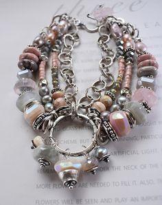 bracelet pink opal bracelet grey moonstone bracelet pink