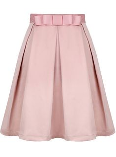 Oh my gosh, how cute is this? - Pink Bow Pleated Skirt