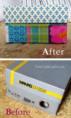 DIY Craft Organizer Box :: FineCraftGuild.com