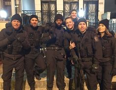 Image may contain: 7 people, people standing and outdoor Chicago Police, Nbc Chicago Pd, Chicago Med, Chicago Style, Chicago Crossover, Marina Squerciati, Chicago Hope, Tracy Spiridakos, Jason Beghe