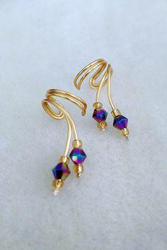Ear Cuff PairGorgeous Aurora Borealis tiny by TheLazyLeopard, $15.00