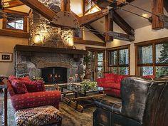 Beautiful Great Room with Custom Stone Fireplace