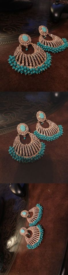 Earrings 98510: Bollywood Indian Pakistani Jewelry Salwar Kameez Kurti Saree Kundan Bridal Party -> BUY IT NOW ONLY: $155 on eBay!