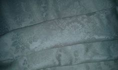 "Vintage!!  Pale Blue Damask Fabric!!  47"" Wide!!"