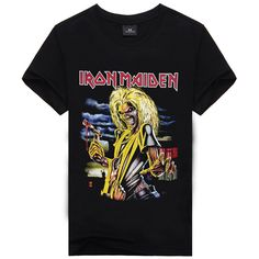 af84f3c917f0 Iron Maiden Brand 3D t shirt New Style 2016 Heavy Metal Streetwear Men s T  shirts 100% Cotton Casual Short Sleeve TOP Tees-in T-Shirts from Men s  Clothing ...