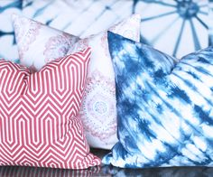 Pillows by Tonic Living. www.tonicliving.com #shibori