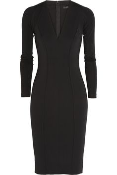 8cd57dfab08 Donna Karan New York - Seamed jersey-crepe dress