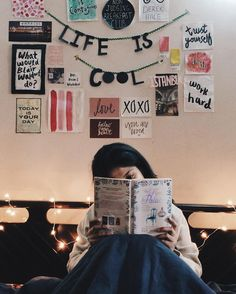 photo from Noor Unnahar instagram https://www.instagram.com/noor_unnahar/  // teen college dorm room home decor tumblr, inspiration wall, bookstagram, bibliophile reading books, fairy lights, cozy aesthetic, beige life, creative creativity artists workplace, portraits people, instagram photography ideas inspiration //