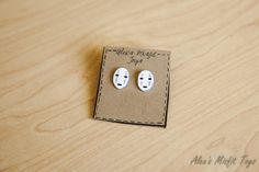 Spirited Away Inspired No Face Mask Earrings by AlexsMisfitToys