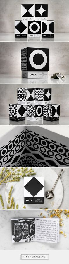 This Greek Tea Has a Beautiful Modern Geometric Look — The Dieline | Packaging & Branding Design & Innovation News... - a grouped images picture - Pin Them All