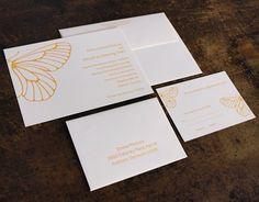 Oslo Press butterfly wedding invitations!