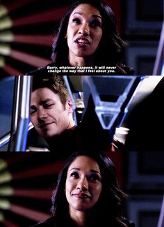 """Whatever happens, it will never change the way I feel about you"" - Iris and Barry #TheFlash"