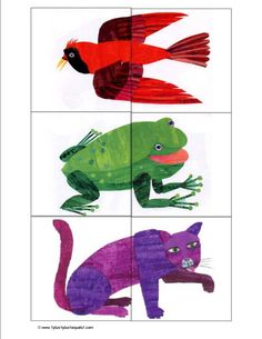 Eric Carle Printables -- use the matching cards in a busy bag or as a file folder game