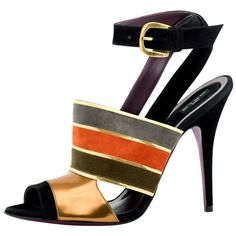 Etro colorful sandals-- love these Fab Shoes, Pretty Shoes, Beautiful Shoes, Cute Shoes, Me Too Shoes, Zapatos Shoes, Shoes Heels, Strap Heels, Ankle Strap