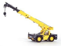 This Grove YB5515 Mobile Crane Diecast Model Crane is Yellow and features working front lift arm, stabilisers, wheels. It is made by TWH and is 1:50 scale (approx. 18cm / 7.1in long).  ...