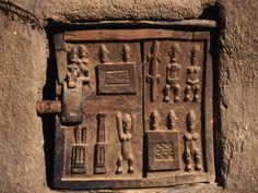 Carved wood Dogon granary door Mali Africa & Africa   Carved wood Dogon Door from Mali.  © Jembetat   Doors ...