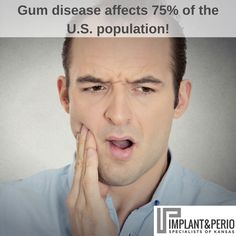 It is estimated that gum disease affects 75% of the U.S. population, but gum disease IS reversible in it's early stages. The problem is... most people don't recognize the symptoms of gum disease OR they don't take it as seriously as they should, as gum disease can ALSO end up being fatal!