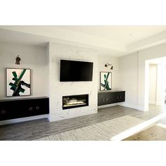 9 Impressive Tips: Fireplace With Tv Moldings peel and stick fireplace tile. - 9 Impressive Tips: Fireplace With Tv Moldings peel and stick fireplace tile. Modern Fireplace Decor, Fireplace Tv Wall, Linear Fireplace, Concrete Fireplace, Farmhouse Fireplace, Fireplace Surrounds, Fireplace Design, Fireplace Outdoor, Craftsman Fireplace