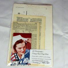 Vintage  Nursing book pages kit 25 pgs   world war two nurses pamphlets