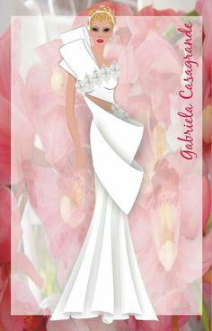Croqui noiva - Gabriela Casagrande Ateliê