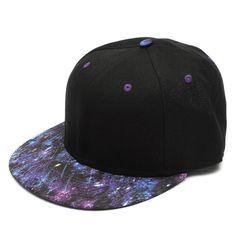 Men Women Baseball Flat Bill Galaxy Hat Hippie Snapback HipHop Adjustable Cap is hot sale on Newchic. Flat Bill Hats, Flat Hats, Summer Hats, Winter Hats, Galaxy Pattern, Kawaii Shoes, Cute Hats, Snapback Hats, Hats For Women