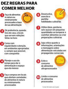 Ministério da Saúde lança guia com as 10 regras da alimentação saudável | Pavablog