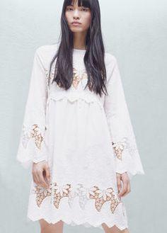 Openwork cotton dress