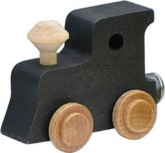 Name Train Accessory Simple Engine, Black