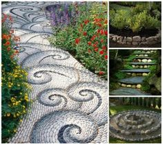 1000 images about jardines y terrazas on pinterest for Camino de piedra para jardin