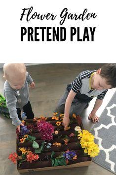 Flower garden pretend play