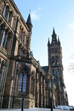 The Gothic architecture of Glasgow University #scotland