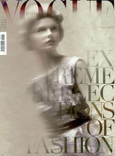 Steven Meisel; Kamila Filipcikova; Vogue Italia, March 2008.