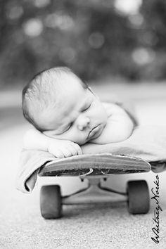 baby boy on a skateboard whitneynorko.com