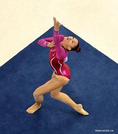 The Gymnastics Nerd Gymnastics Facts, Gymnastics Images, Gymnastics Floor, Gymnastics World, Gymnastics Poses, Sport Gymnastics, Gymnastics Leotards, Tobin Heath, Red Bodysuit
