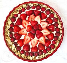 Strawberry Almond Cream Tart Recipe {Virtual Baby Shower} - Jeanette's Healthy Living