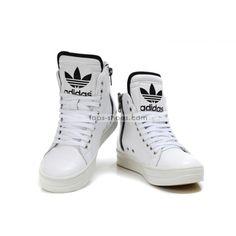 hightops | Adidas Originals Big Tongue High Tops Zip-up Shoes White for men