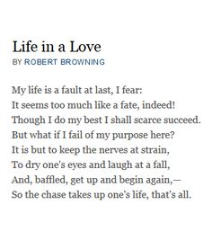 Life in a Love - Robert Browning