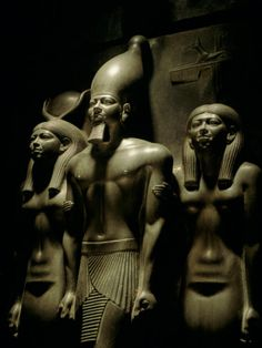 Pharaoh Menkaure with Two Goddesses, Egyptian Museum, Cairo, Egypt Photographic Print by Kenneth Garrett at AllPosters.com