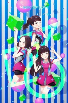 Perfume j-pop Magic of love ❤ cute! Perfume Jpop, Anime Girls, Girl Group, Magic, Japanese, Wallpaper, Cute, Fashion, Anime Uniform