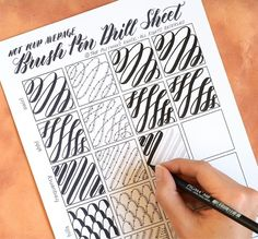 """3,912 Likes, 55 Comments - Lindsey Bugbee (@thepostmansknock) on Instagram: """"In the latest TPK blog post (link in profile), you'll find a printable brush pen drills sheet! This…"""""""