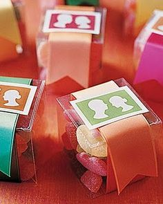 Silhouette candy box favors