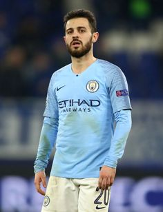 Bernardo Silva of Manchester City looks on during the UEFA Champions League Round of 16 First Leg match between FC Schalke 04 and Manchester City at Veltins-Arena on February 2019 in. Get premium, high resolution news photos at Getty Images Messi Soccer, Champions Of The World, Bernardo, Uefa Champions League, Super Sport, Manchester City, Soccer Players, Dean, February