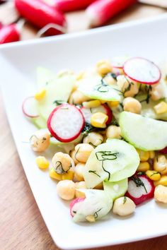 Przepis na sałatkę z ciecierzycą i rzodkiewką Vegetables, Food, Art, Art Background, Essen, Kunst, Vegetable Recipes, Meals, Performing Arts