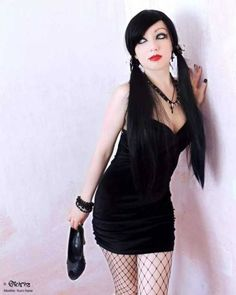 Kuro Hana — Old shoot Model: Photographer:. Dark Fashion, Emo Fashion, Fashion Wear, Gothic Fashion, Hot Goth Girls, Gothic Girls, Gothic Lolita, Gothic Baby, Goth Beauty