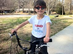 """Help us spread the word that being KIND is COOL! This 100% cotton tee displays Princess Free Zone and super hero Super Tool Lula's anti-bullying message. Available in pale blue, yellow, and white t-shirts.Please let us know your size and color requirements via the """"notes to seller"""" at checkout."""
