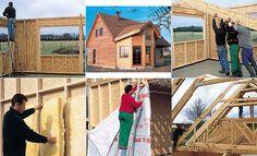 Construction d'une maison à ossature bois : les étapes en photos. Plans, Photos, Decor, Log Homes, Build Your House, Building An Extension, Pictures, Decoration, Dekoration