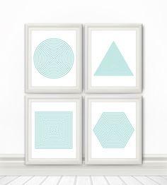 Four 8x10 Shape Prints - by BentonParkPrints, $40.00